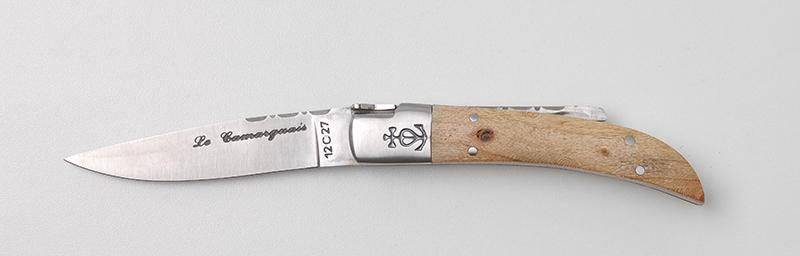 Achat couteau traditionnel français Le Camarguais Trident forgé N°10 - Tamaris