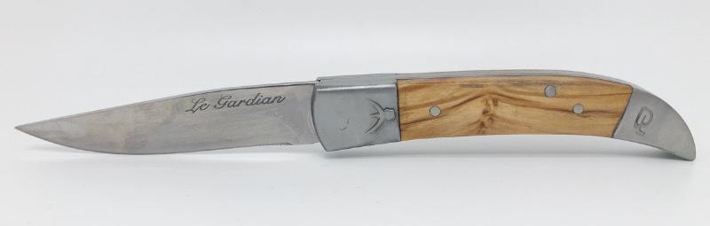 Le Gardian en bois d'Olivier. Couteau régional traditionnel 100% Français