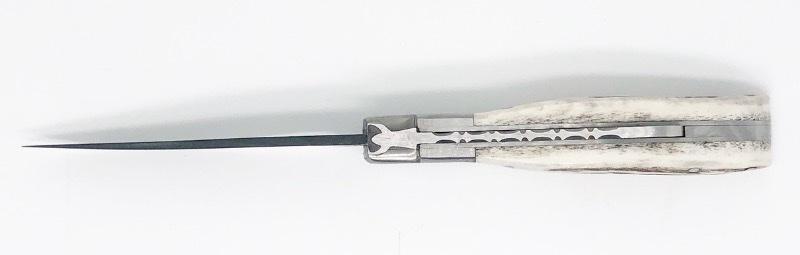 Camarguais trident forgé n°12 Brut de Trempe - Cerf