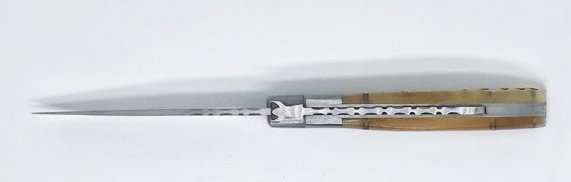 Le Camarguais trident forgé n°12 - corne de bélier claire / coutellerie nîmes