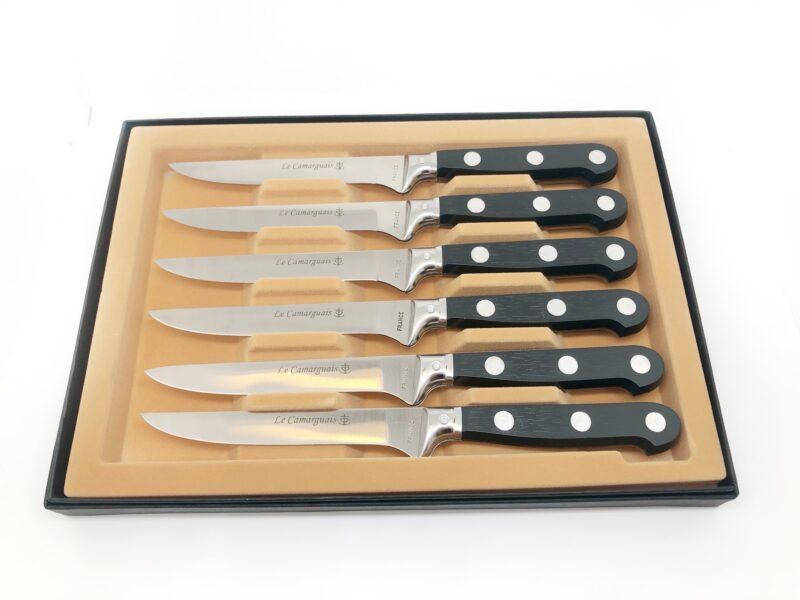 Coffret de 6 Couteaux lame lisse - résine 100% Français