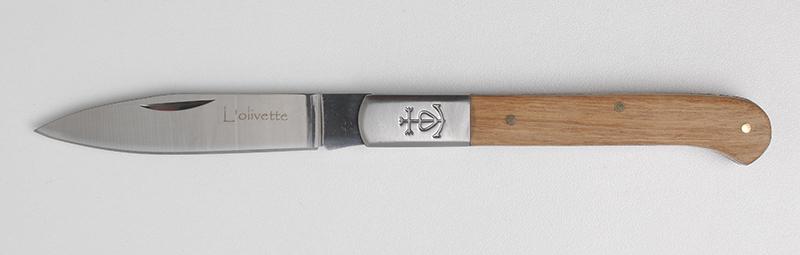 L'olivette n°12 en Bois d'Olivier. Couteau régional traditionnel